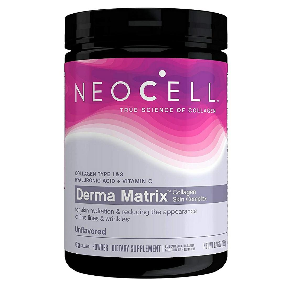 NeoCell Derma Matrix Collagen Skin Complex Powder, Collagen Types 1 & 3, 6.46 Ounces