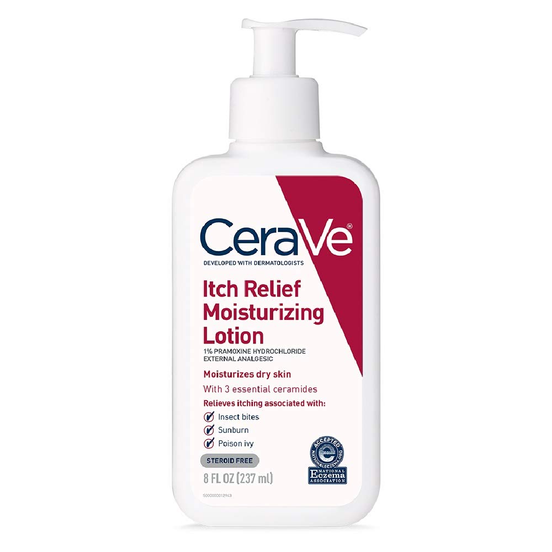 CeraVe Moisturizing Lotion for Itch Relief 8 Ounce Dry Skin Itch Relief Lotion with Pramoxine Hydrochloride Fragrance Free