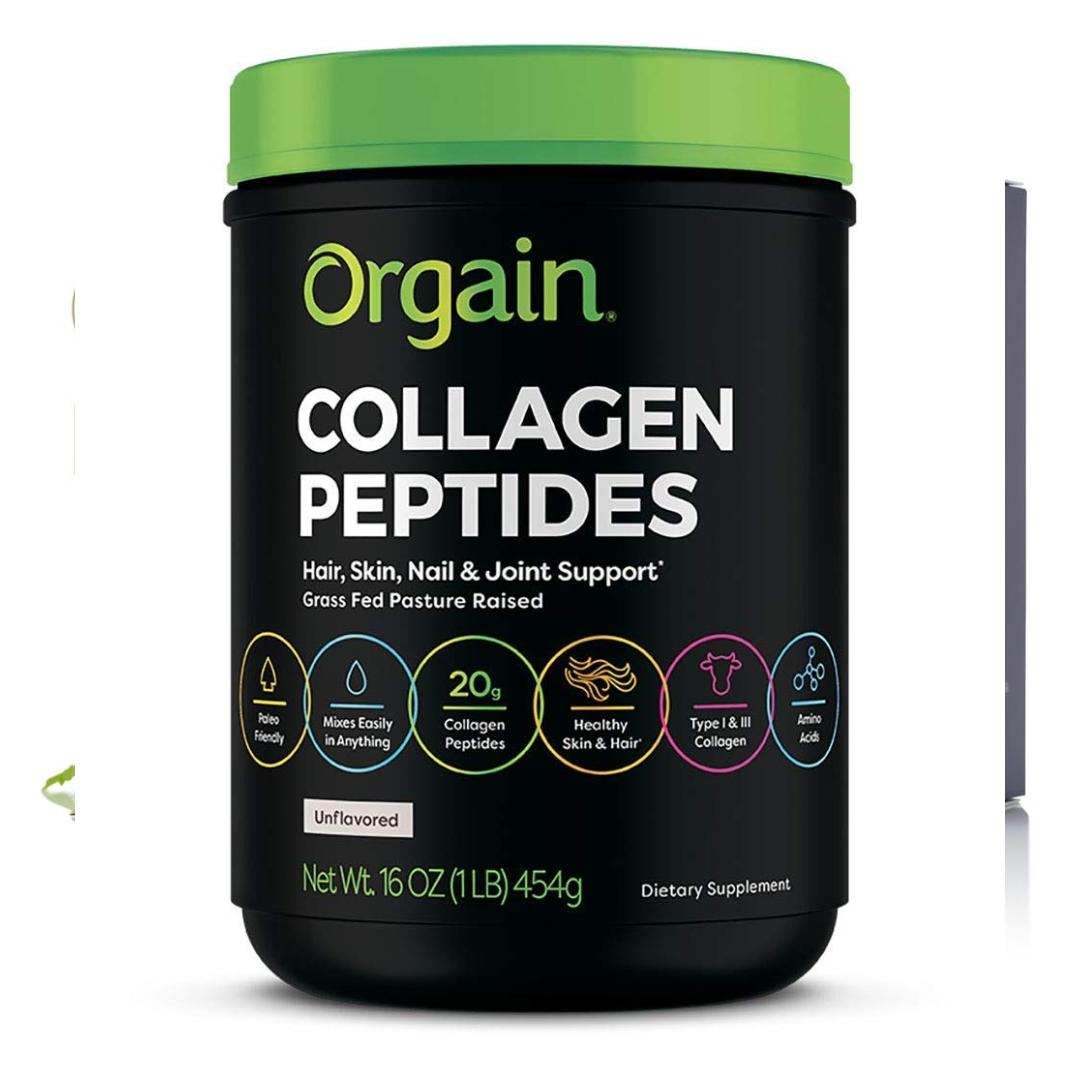Orgain Hydrolyzed Collagen Peptides Protein Powder Unflavored  Keto, Paleo, Amino Acids, No Gluten Dairy Sugar or Soy, Non-GMO, Type I & III, 1lb