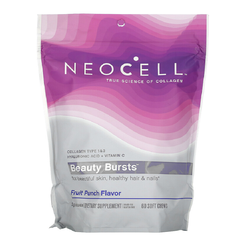 Neocell, Beauty Bursts, Fruit Punch Flavor 2 g  60 Soft Chews