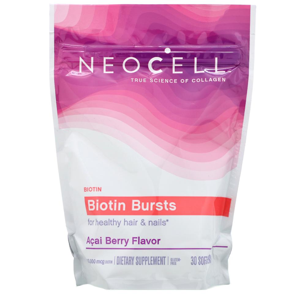 Neocell, Biotin Bursts, Acai Berry Flavor, 10,000 mcg , 30 Soft Chews