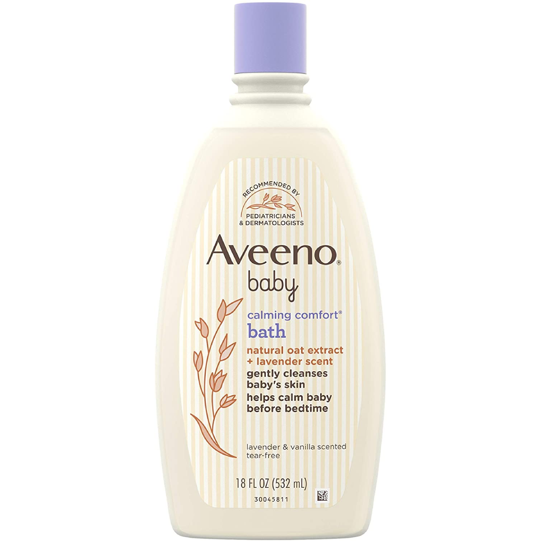 Baby Calming Comfort Bath & Wash with Relaxing Lavender & Vanilla Scents & Natural Oat Extract