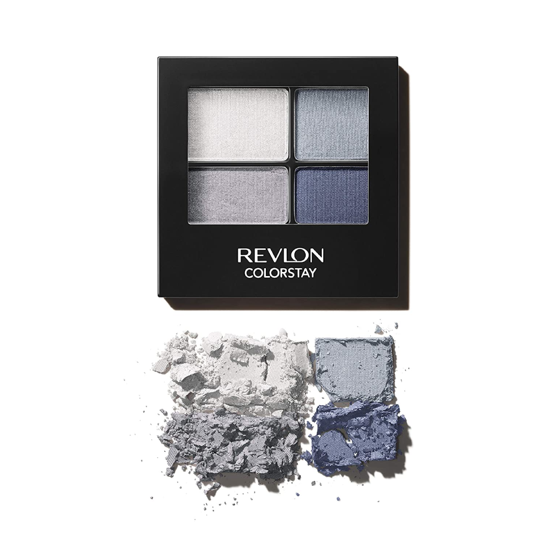 Revlon ColorStay 16 Hour Eyeshadow Quad with Dual-Ended Applicator Brush