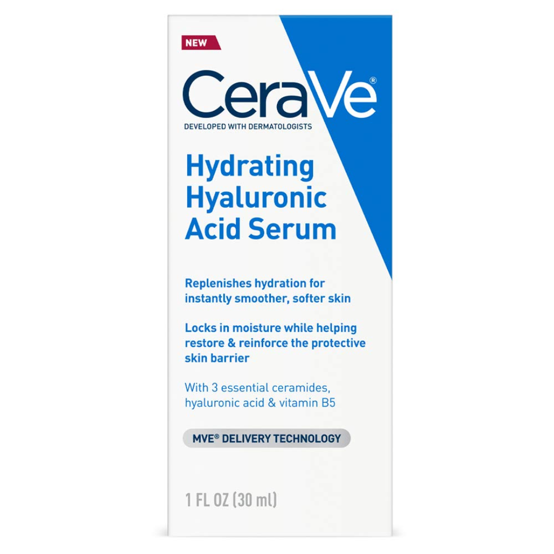 CeraVe Hyaluronic Acid Serum for Face with Vitamin B5 and Ceramides