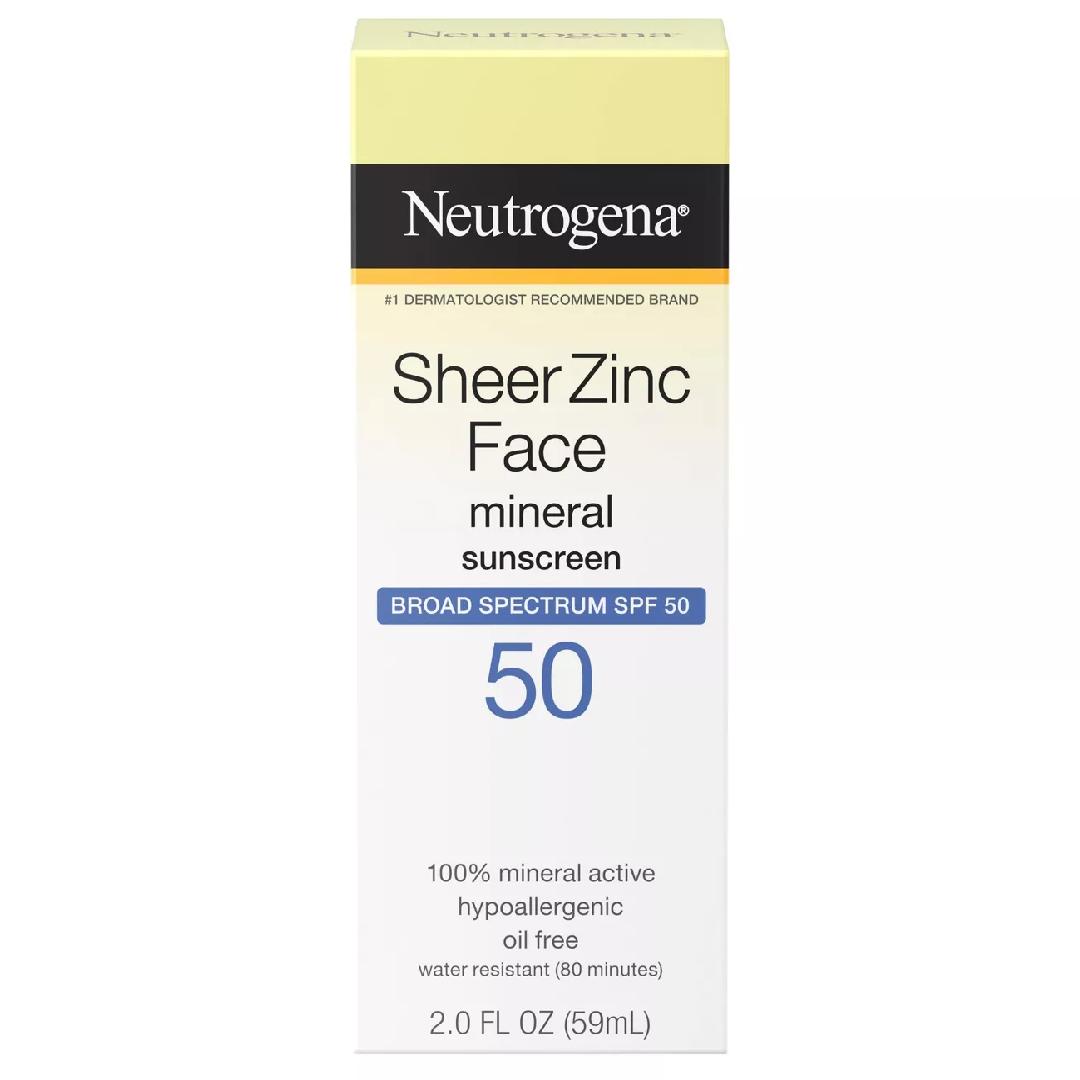 Neutrogena Sheer Zinc Sunscreen Face Lotion – SPF 50 – 2oz