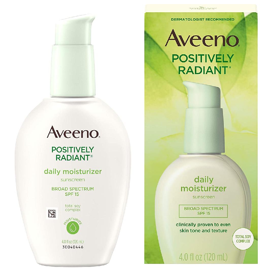 Aveeno Positively Radiant Skin Daily Moisturizer Spf 15