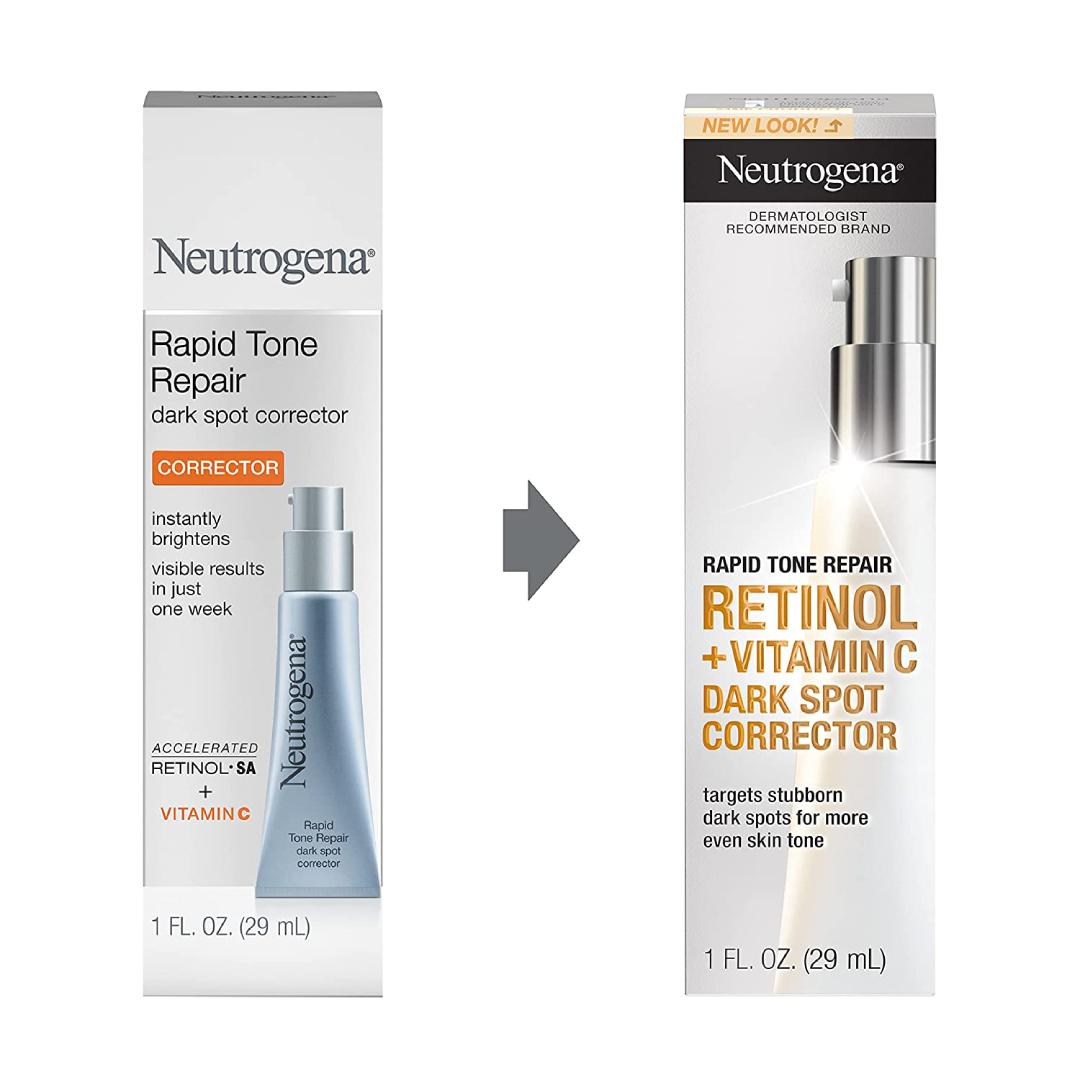Neutrogena Rapid Tone Repair Retinol Vitamin C Dark Spot Corrector Face Serum