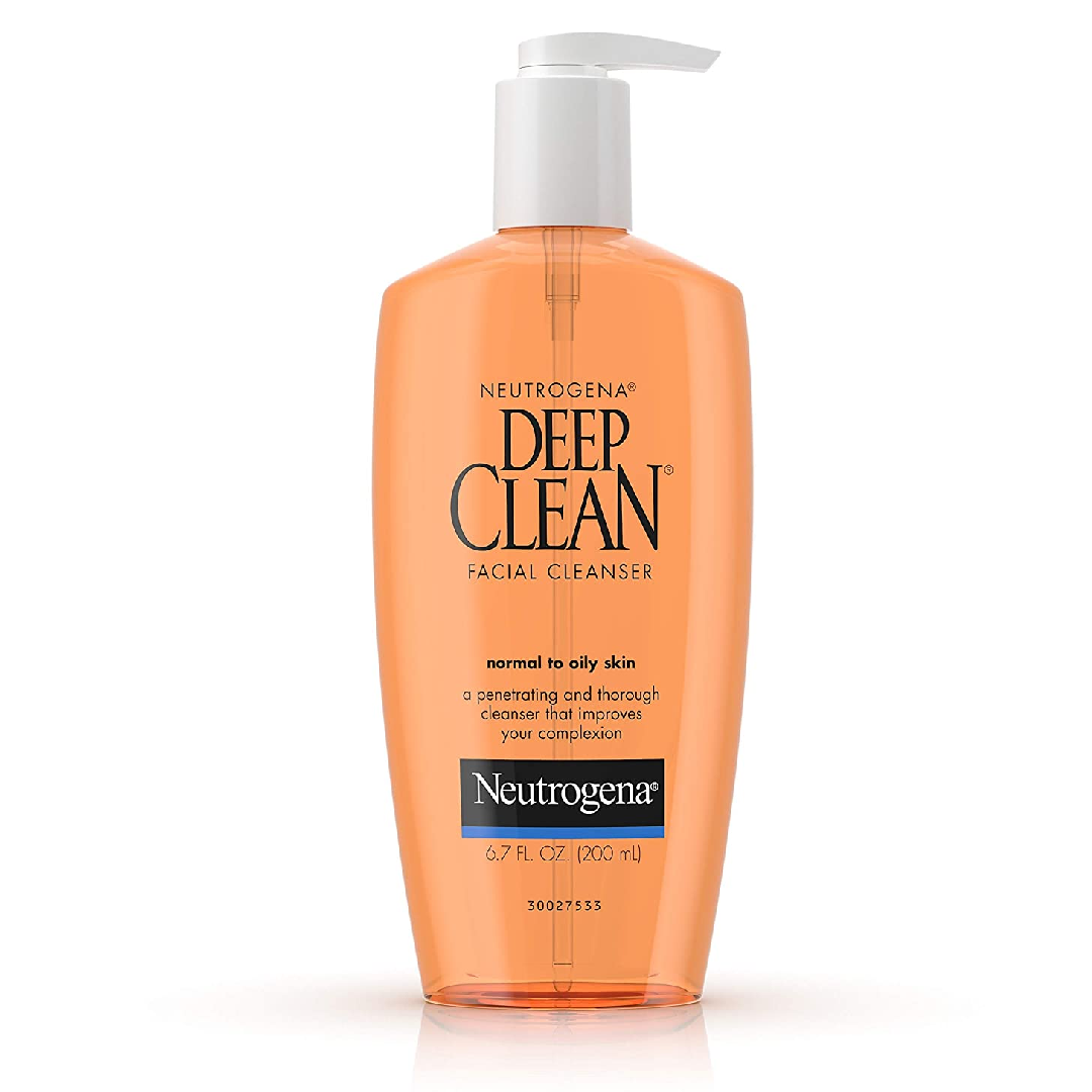 Neutrogena Deep Clean Daily Facial Cleanser with Beta Hydroxy Acid for Normal to Oily Skin