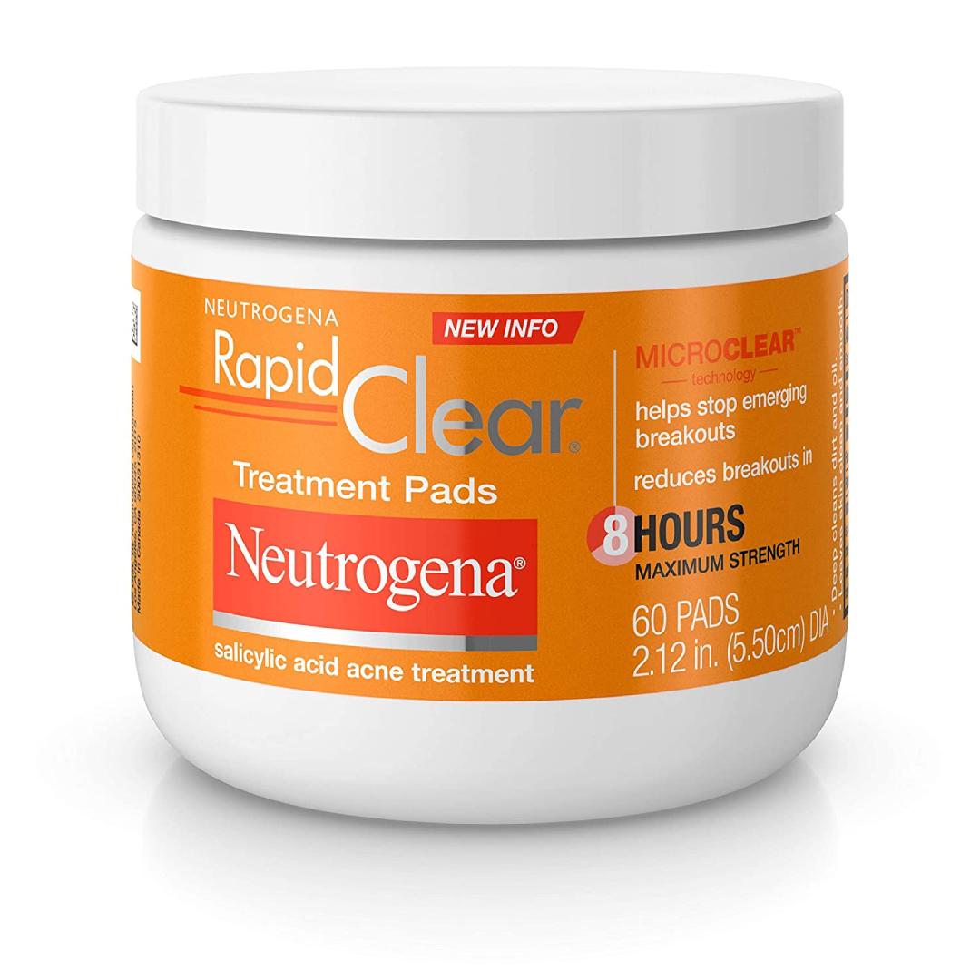 Neutrogena, Rapid Clear Treatment Pads Maximum Strength, 60 ct